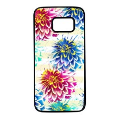 Colorful Dahlias Samsung Galaxy S7 Black Seamless Case