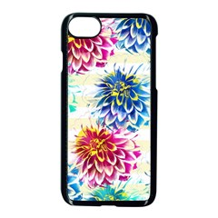 Colorful Dahlias Apple Iphone 7 Seamless Case (black)