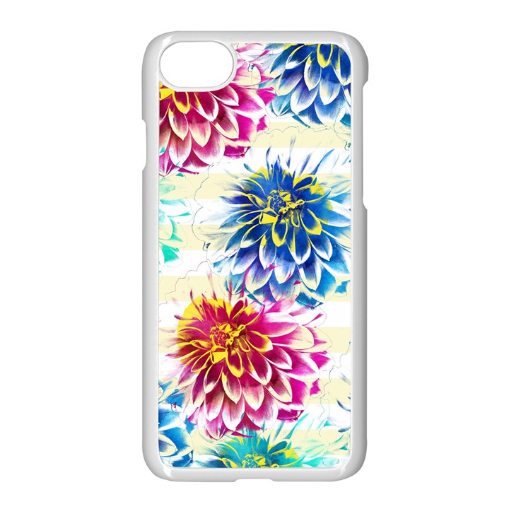 Colorful Dahlias Apple iPhone 7 Seamless Case (White)