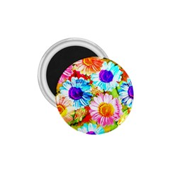 Colorful Daisy Garden 1 75  Magnets by DanaeStudio