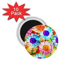 Colorful Daisy Garden 1 75  Magnets (10 Pack)  by DanaeStudio