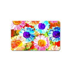 Colorful Daisy Garden Magnet (name Card) by DanaeStudio