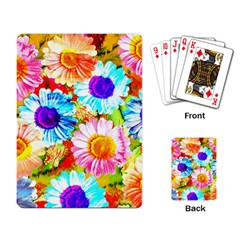 Colorful Daisy Garden Playing Card by DanaeStudio