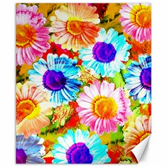Colorful Daisy Garden Canvas 8  X 10  by DanaeStudio