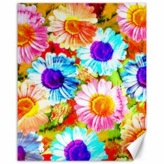 Colorful Daisy Garden Canvas 16  X 20   by DanaeStudio