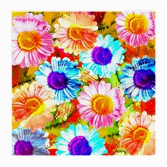 Colorful Daisy Garden Medium Glasses Cloth (2 Side) by DanaeStudio