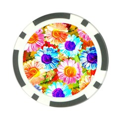 Colorful Daisy Garden Poker Chip Card Guards (10 Pack)  by DanaeStudio