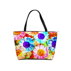 Colorful Daisy Garden Shoulder Handbags by DanaeStudio