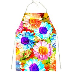 Colorful Daisy Garden Full Print Aprons by DanaeStudio