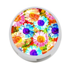 Colorful Daisy Garden 4 Port Usb Hub (two Sides)  by DanaeStudio