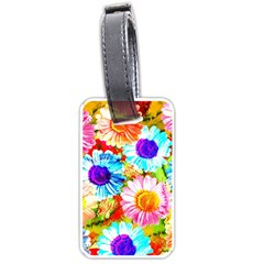 Colorful Daisy Garden Luggage Tags (one Side)  by DanaeStudio