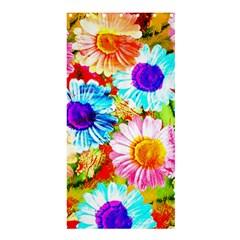 Colorful Daisy Garden Shower Curtain 36  X 72  (stall)  by DanaeStudio