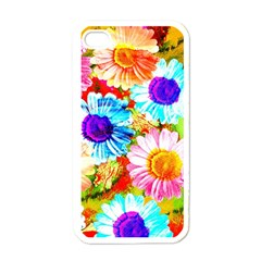 Colorful Daisy Garden Apple Iphone 4 Case (white) by DanaeStudio