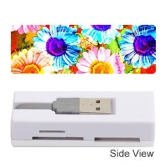 Colorful Daisy Garden Memory Card Reader (stick)  by DanaeStudio