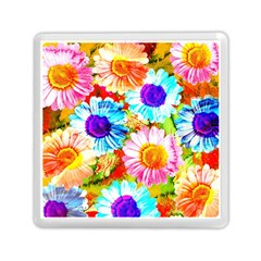 Colorful Daisy Garden Memory Card Reader (square)  by DanaeStudio