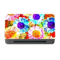 Colorful Daisy Garden Memory Card Reader With Cf by DanaeStudio