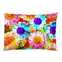 Colorful Daisy Garden Pillow Case (two Sides) by DanaeStudio