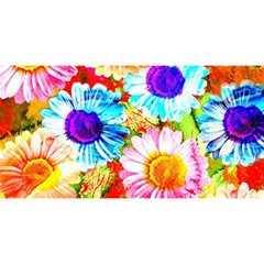 Colorful Daisy Garden You Are Invited 3d Greeting Card (8x4) by DanaeStudio