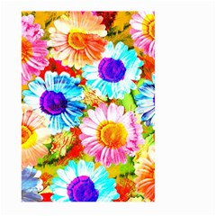 Colorful Daisy Garden Large Garden Flag (two Sides) by DanaeStudio