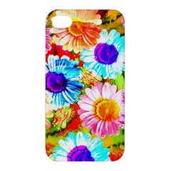 Colorful Daisy Garden Apple Iphone 4/4s Premium Hardshell Case by DanaeStudio