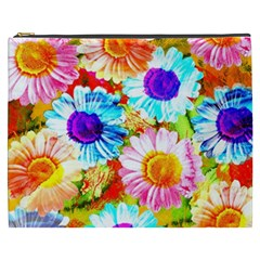 Colorful Daisy Garden Cosmetic Bag (xxxl)  by DanaeStudio