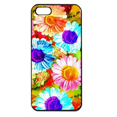 Colorful Daisy Garden Apple Iphone 5 Seamless Case (black) by DanaeStudio