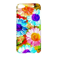 Colorful Daisy Garden Apple Ipod Touch 5 Hardshell Case by DanaeStudio