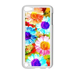 Colorful Daisy Garden Apple Ipod Touch 5 Case (white) by DanaeStudio