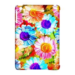 Colorful Daisy Garden Apple Ipad Mini Hardshell Case (compatible With Smart Cover) by DanaeStudio
