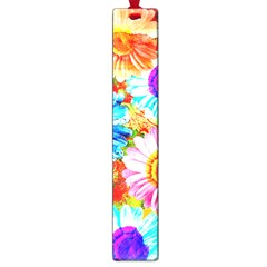 Colorful Daisy Garden Large Book Marks by DanaeStudio