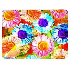 Colorful Daisy Garden Samsung Galaxy Tab 7  P1000 Flip Case by DanaeStudio