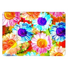 Colorful Daisy Garden Samsung Galaxy Tab 8 9  P7300 Flip Case by DanaeStudio