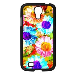 Colorful Daisy Garden Samsung Galaxy S4 I9500/ I9505 Case (black) by DanaeStudio