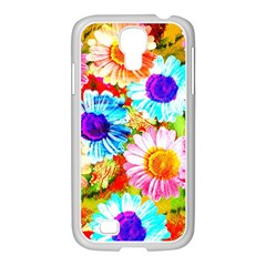 Colorful Daisy Garden Samsung Galaxy S4 I9500/ I9505 Case (white) by DanaeStudio