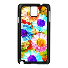 Colorful Daisy Garden Samsung Galaxy Note 3 N9005 Case (black) by DanaeStudio
