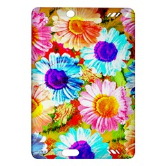 Colorful Daisy Garden Amazon Kindle Fire Hd (2013) Hardshell Case by DanaeStudio