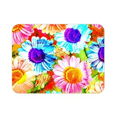 Colorful Daisy Garden Double Sided Flano Blanket (mini)  by DanaeStudio