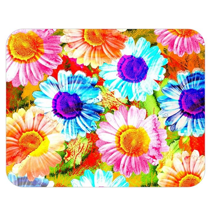 Colorful Daisy Garden Double Sided Flano Blanket (Medium)