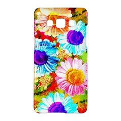 Colorful Daisy Garden Samsung Galaxy A5 Hardshell Case  by DanaeStudio