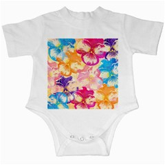 Colorful Pansies Field Infant Creepers