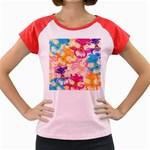Colorful Pansies Field Women s Cap Sleeve T-Shirt