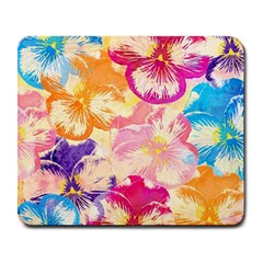 Colorful Pansies Field Large Mousepads