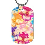 Colorful Pansies Field Dog Tag (Two Sides)