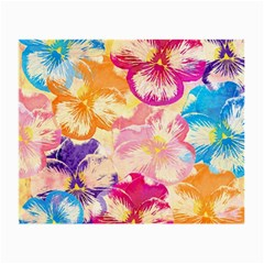 Colorful Pansies Field Small Glasses Cloth by DanaeStudio
