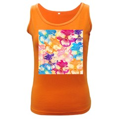 Colorful Pansies Field Women s Dark Tank Top by DanaeStudio