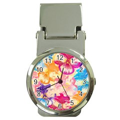 Colorful Pansies Field Money Clip Watches
