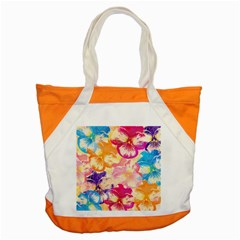 Colorful Pansies Field Accent Tote Bag