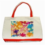 Colorful Pansies Field Classic Tote Bag (Red)