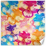 Colorful Pansies Field Canvas 12  x 12