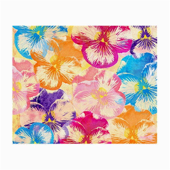 Colorful Pansies Field Small Glasses Cloth (2-Side)